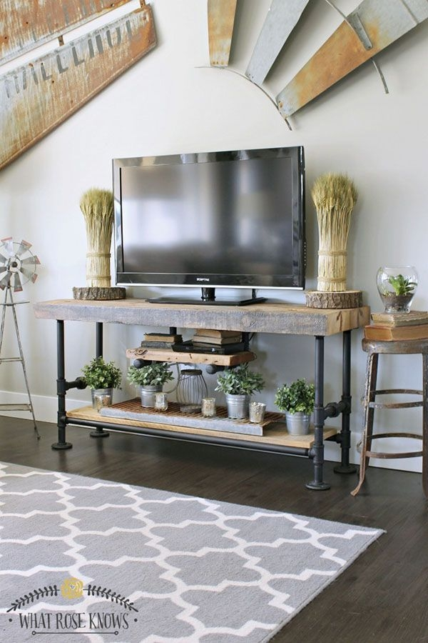 Wonderful Trendy Reclaimed Wood And Metal TV Stands Within Best 20 Industrial Tv Stand Ideas On Pinterest Industrial Media (Image 48 of 50)