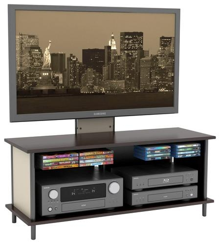 Wonderful Trendy TV Stands With Back Panel Pertaining To Buy Atlantic Epic 3 In 1 Tv Stand For Flat Panel Tvs Up To (View 30 of 50)