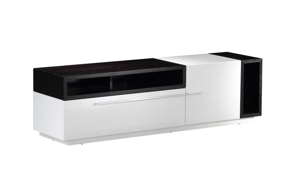 Wonderful Trendy White And Black TV Stands Inside White Black Tv030 White Gloss Dark Oak Tv Stand Jm Jm (Image 50 of 50)