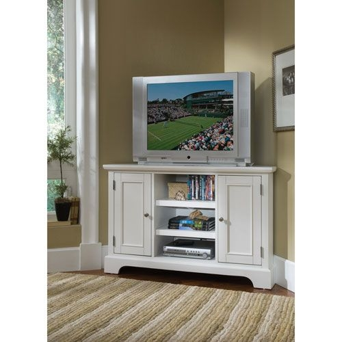Wonderful Trendy White Wood Corner TV Stands Pertaining To Best 25 Small Corner Tv Stand Ideas On Pinterest Corner Tv (Image 49 of 50)