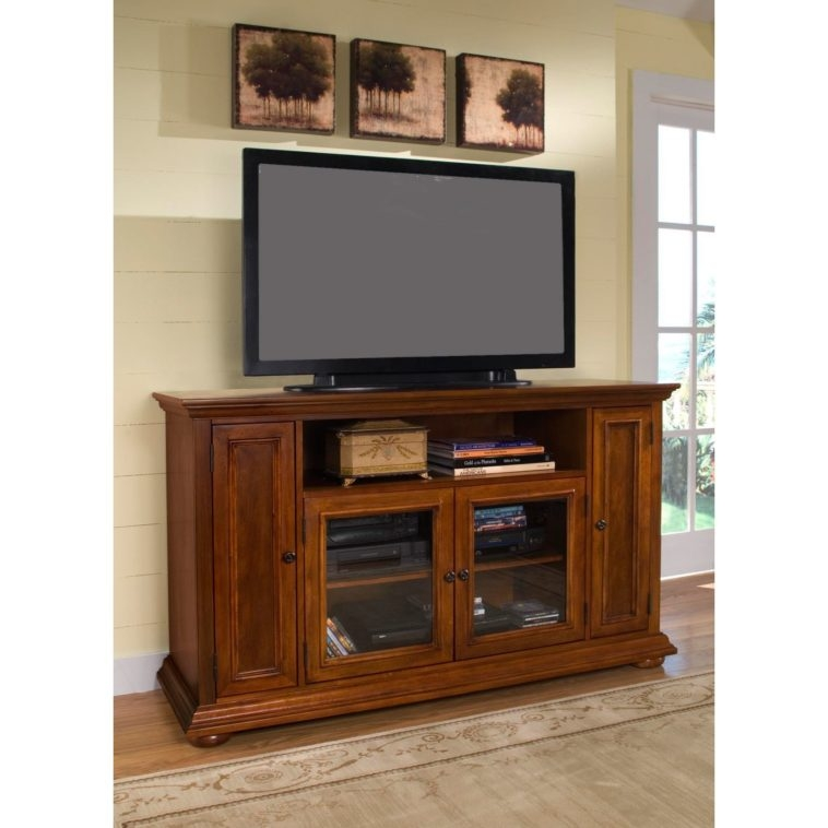 Wonderful Trendy Wooden TV Cabinets With Glass Doors With Furniture Brown Polished Wooden Tv Cabinets With Wood And Glass (Image 50 of 50)