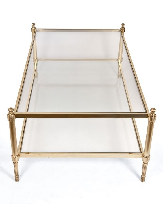 50 Best Collection Of Antique Brass Glass Coffee Tables