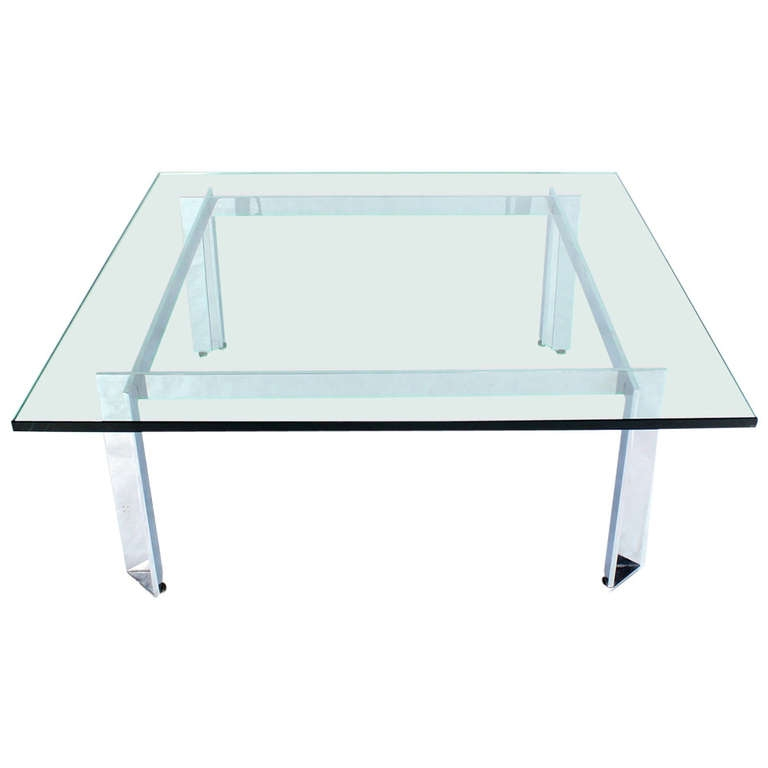 Wonderful Unique Chrome And Glass Coffee Tables Within Modern Chrome Glass Coffee Table Design (View 38 of 50)