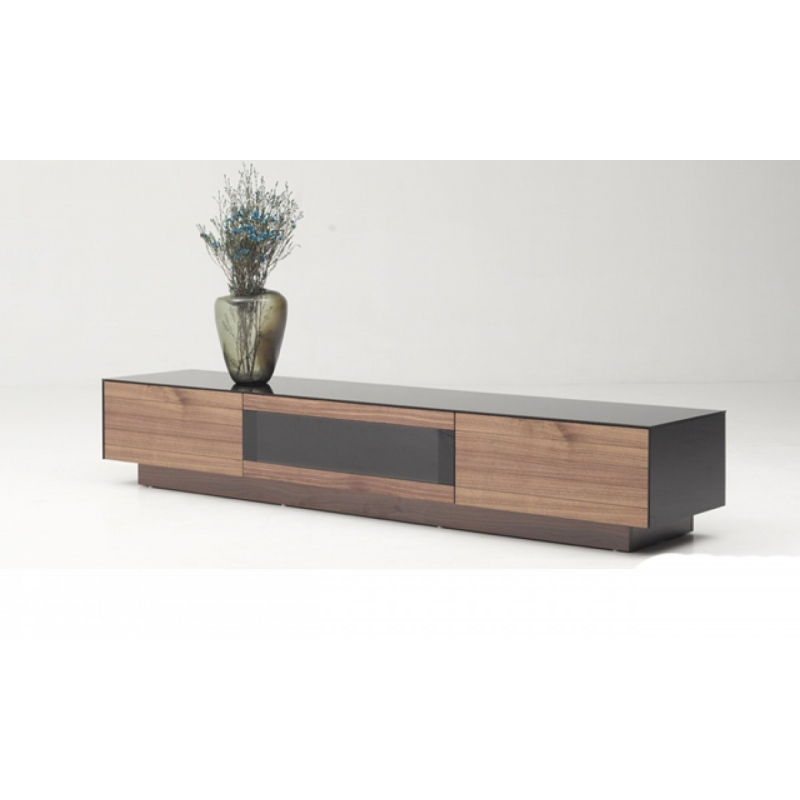 Wonderful Unique Contemporary Wood TV Stands For Buy The Modrest Darius Modern Walnut Tv Stand Vig Furniture (Image 49 of 50)