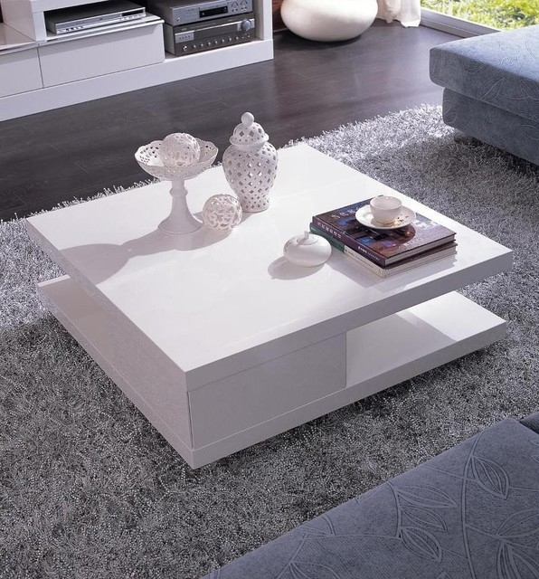 Wonderful Unique Large Low White Coffee Tables With Regard To White Modern Coffee Table (Image 49 of 50)