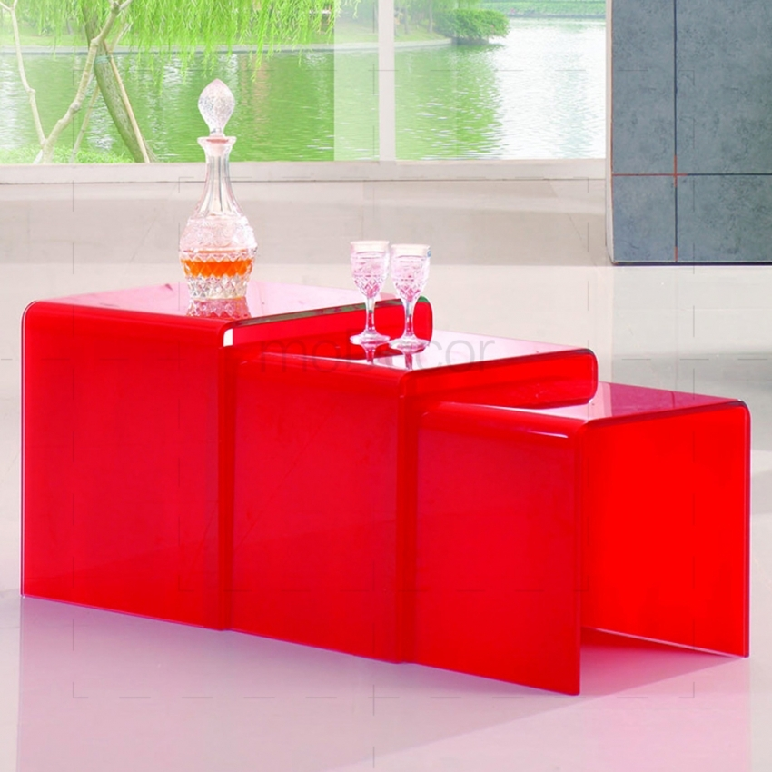 Wonderful Unique Red Coffee Table With Nested Coffee Tables Red Glass (Image 48 of 50)