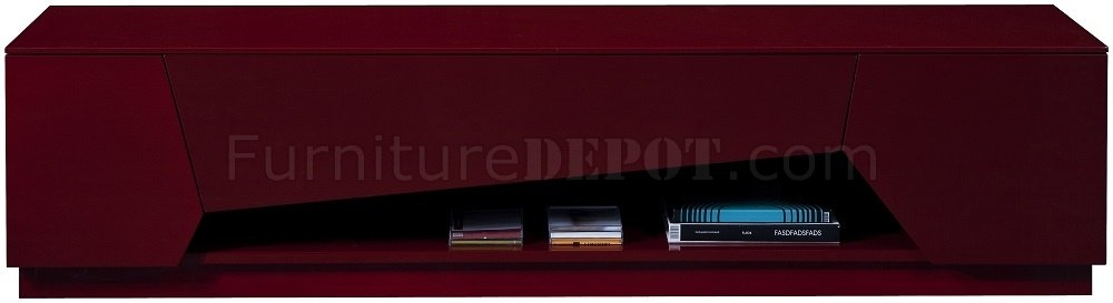 Wonderful Unique Red Gloss TV Stands Pertaining To Tv Stand In Red High Gloss Jm Furniture (View 42 of 50)