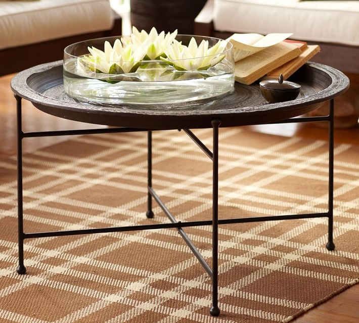 Wonderful Unique Round Coffee Table Trays In Moroccan Tray Table Pottery Barn (Image 49 of 50)