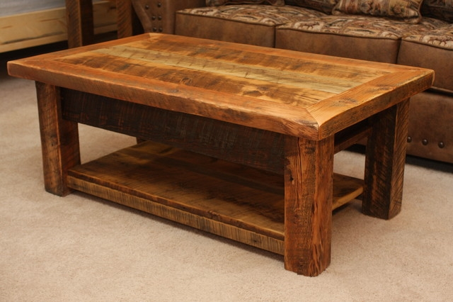 Wonderful Unique Rustic Style Coffee Tables Regarding Ana White Rustic Coffee Table (View 6 of 50)