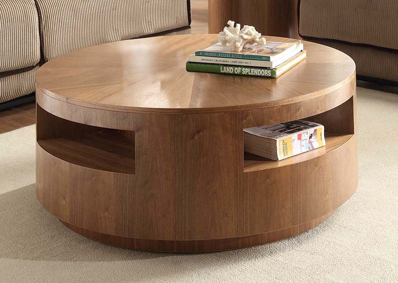 Wonderful Unique Solid Round Coffee Tables Pertaining To Living Room Great Nice Solid Wood Round Coffee Table Within Wooden (Image 39 of 40)