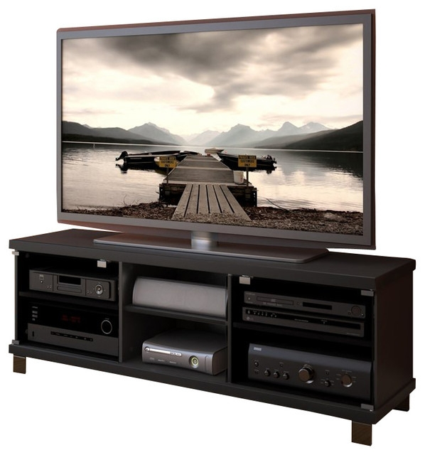 Wonderful Unique Sonax TV Stands Pertaining To Sonax Hollow Core Tv Stand And Component Bench In Midnight Black (View 26 of 50)