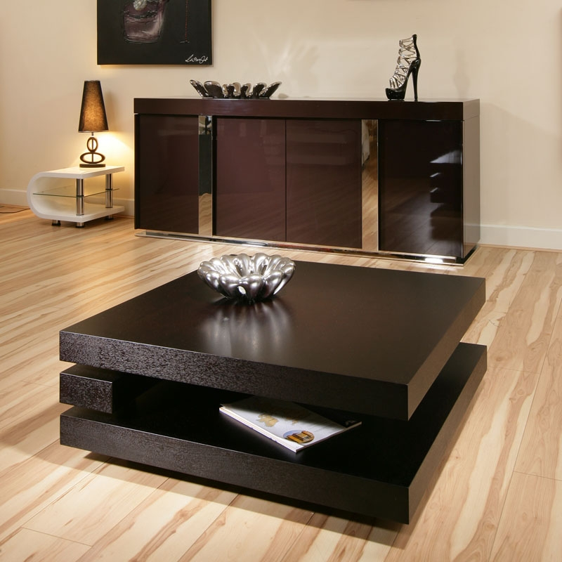 Wonderful Unique Square Black Coffee Tables Pertaining To Black Coffee Table Mainittu Torille Black Coffee View In Gallery (View 9 of 40)