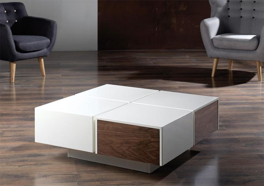 Wonderful Unique Square Storage Coffee Tables Intended For Contemporary Square Coffee Table Fabulous Design Trends4us (View 42 of 50)