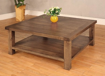 Wonderful Unique Square Wooden Coffee Tables With Regard To Furniture Industrial Coffee Tables Ideas Brown Square Pallet (Image 49 of 50)