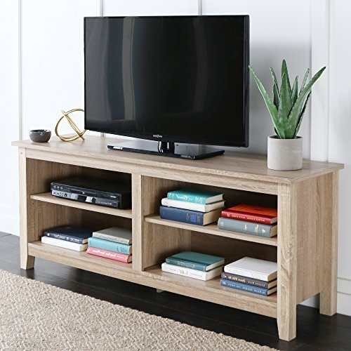 Wonderful Unique White And Wood TV Stands Throughout White Wood Tv Stand Amazon (Image 50 of 50)