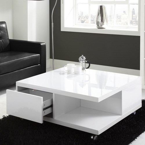 Wonderful Unique White Coffee Tables With Storage Within Large White Coffee Table (View 44 of 50)