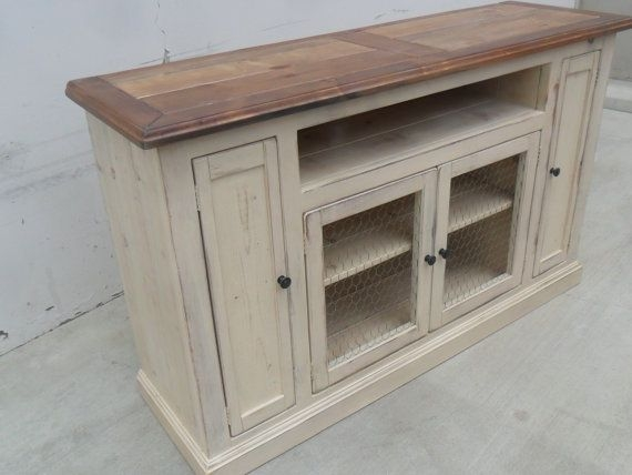 Wonderful Unique White Rustic TV Stands Pertaining To Best 25 Rustic Media Cabinets Ideas Only On Pinterest Rustic (Image 49 of 50)