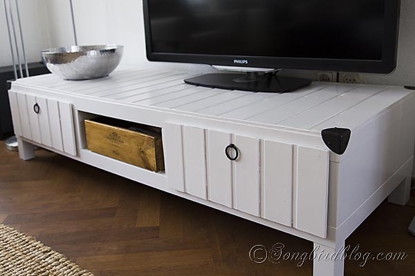 Wonderful Unique White Wooden TV Stands Pertaining To Ikea Furniture Project Tv Stand Makeover (Image 50 of 50)