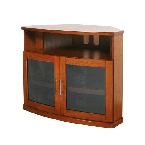 Wonderful Unique Wood Corner TV Cabinets Pertaining To Newport Walnut 40 Inch Corner Tv Cabinet Plateau Corner Tv (Image 48 of 50)