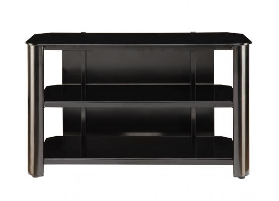 Wonderful Variety Of Black Glass TV Stands Intended For Innovex Black Glass Tv Stand Tpt42g (View 28 of 50)