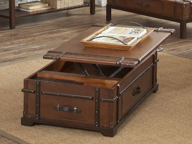 Wonderful Variety Of Coffee Tables With Rising Top Inside Coffee Table Astounding Lift Top Trunk Coffee Table Trunk Coffee (Image 40 of 40)