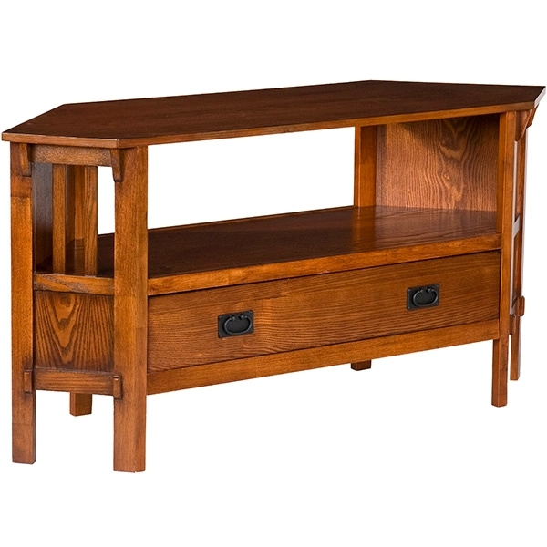 Wonderful Variety Of Dark Wood Corner TV Stands Inside Living Room Furniture Mission Furniture Craftsman Furniture (Image 48 of 50)