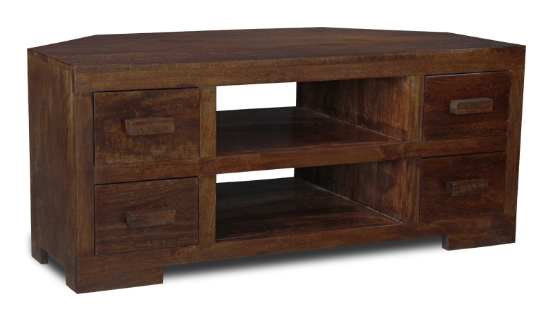 Wonderful Variety Of Dark Wood Corner TV Stands  With Regard To Wooden Tv Cabinets Uk (Image 47 of 50)