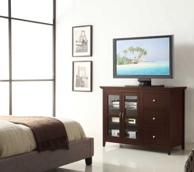 Wonderful Variety Of Espresso TV Cabinets With Tall Tv Cabinet 7 Beautiful Tall Tv Stands Tv Stands Central (Image 50 of 50)