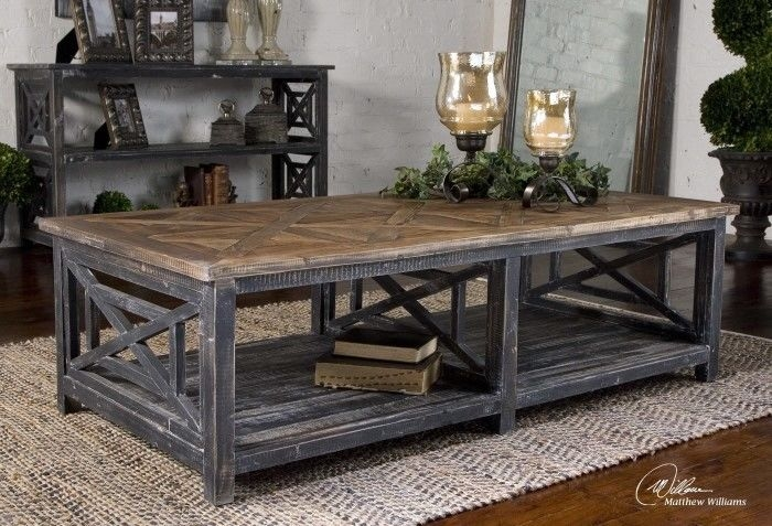 Wonderful Variety Of Gray Wood Coffee Tables Inside Astonishing Rustic Coffee Table With Wheels Design (Image 50 of 50)