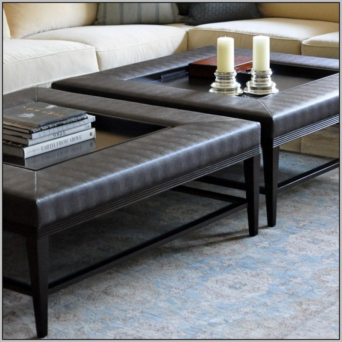 Wonderful Variety Of Green Ottoman Coffee Tables Intended For Green Leather Coffee Table Ottoman Coffee Table Home (Image 49 of 50)