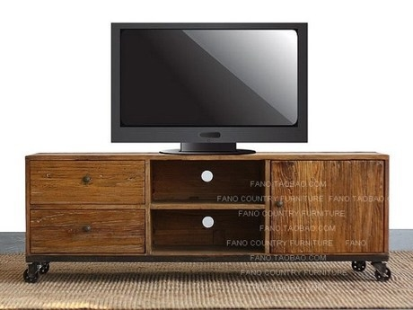 Wonderful Variety Of Industrial TV Cabinets For Loft Industrial Retro Style Wrought Iron Four Pairs Of Pumping A (Image 50 of 50)
