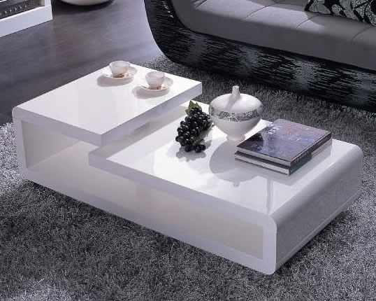Wonderful Variety Of Lacquer Coffee Tables With Regard To Modern White Lacquer Coffee Table (Image 40 of 40)