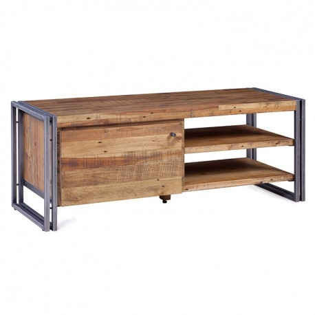 Wonderful Variety Of Metal And Wood TV Stands Intended For 130 Wood And Metal Kosyform Tv Stand (Image 50 of 50)