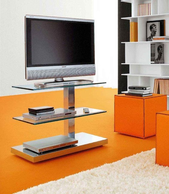 Wonderful Variety Of Modern Oak TV Stands Inside Tv Stands Modern Small Narrow Tv Stand On Wheels Outstanding (View 16 of 50)