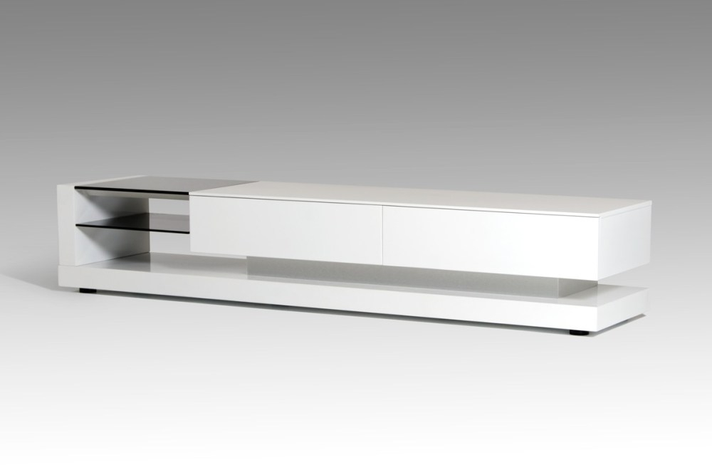 Wonderful Variety Of Modern White Lacquer TV Stands For Modern White Lacquer Tv Stand Home Design Ideas (Image 49 of 50)