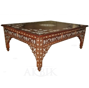 Wonderful Variety Of Mother Of Pearl Coffee Tables Regarding Mediterranean Levantine Syrian Furniture Inlaid With Mother Of (Image 49 of 50)