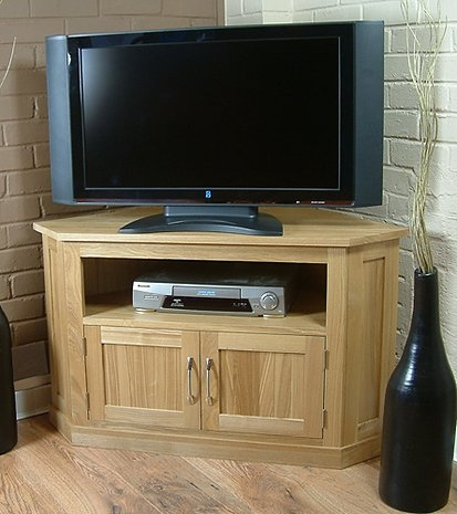 Wonderful Variety Of Oak Corner TV Cabinets Inside Mobel Oak Corner Television Cabinet Oak Furniture Solutions (Image 50 of 50)