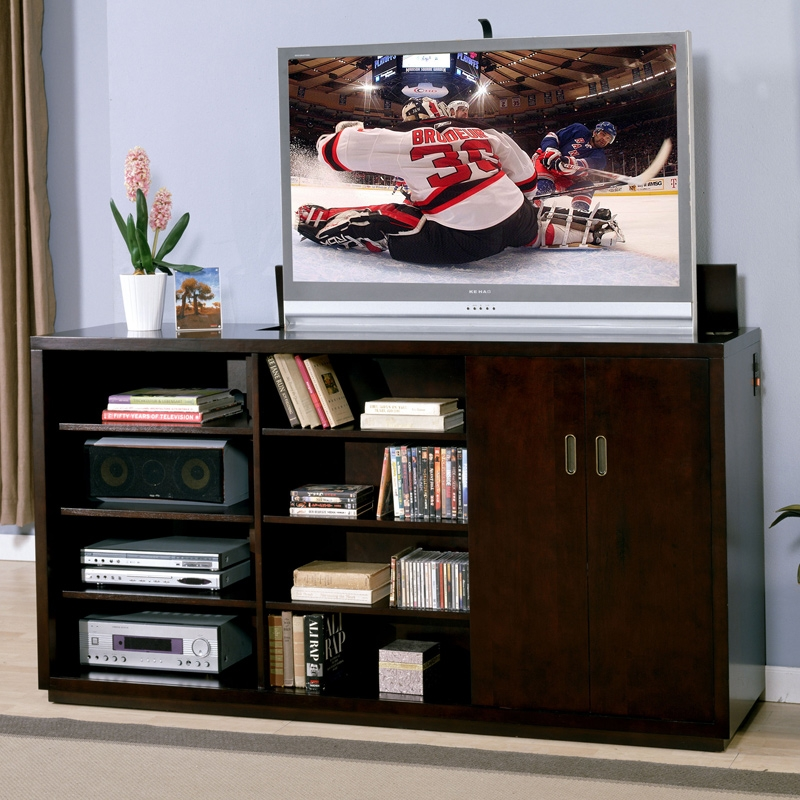 Wonderful Variety Of Pop Up TV Stands In Dino Pop Up Tv Stand Signature Home Furnishings 358 901 C (Image 49 of 50)