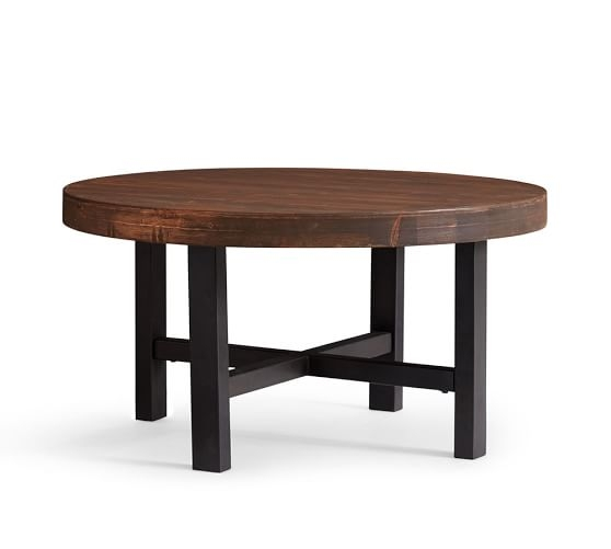 Wonderful Variety Of Round Pine Coffee Tables Inside Griffin Round Coffee Table Pottery Barn (View 41 of 50)