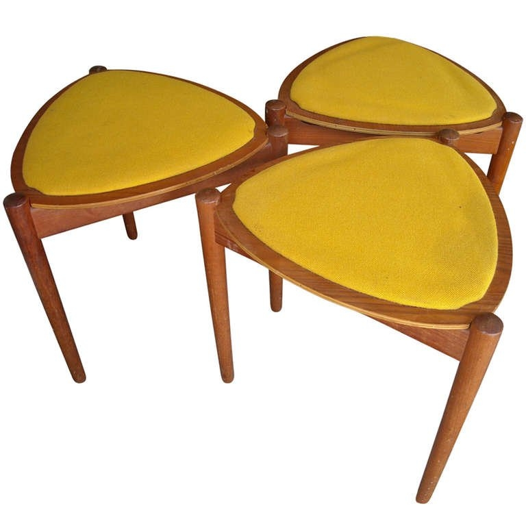 Wonderful Variety Of Stackable Coffee Tables Throughout Set Of Three Danish Mid Century Modern Reversible Stackable Side (View 31 of 50)