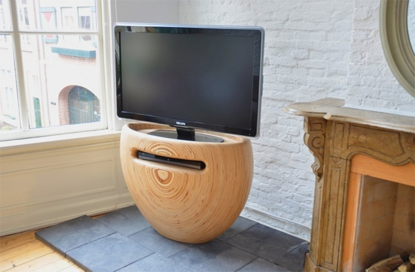 Wonderful Variety Of Stylish TV Stands For Wooden Tv Stands With Stylish Rounded From Leon Van Zanten Home (View 6 of 50)