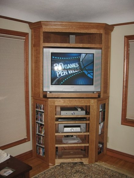 Wonderful Variety Of Tall TV Cabinets Corner Unit Throughout Corner Unit Entertainment Centers Homesfeed (Image 50 of 50)