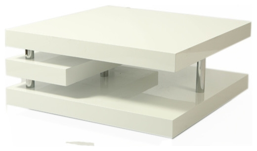 Wonderful Variety Of White And Chrome Coffee Tables Inside Chrome Coffee Tables Houzz (Image 49 of 50)