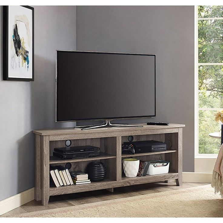 Wonderful Variety Of White Small Corner TV Stands Regarding Best 25 Media Stands Ideas On Pinterest Tv Console Tables (View 35 of 50)