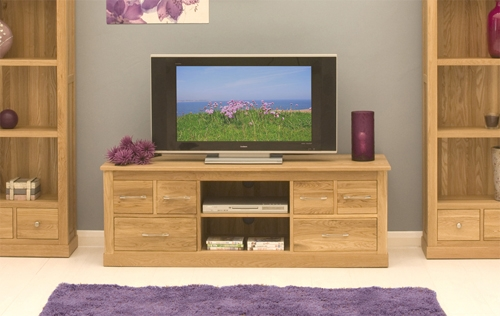 Wonderful Variety Of Widescreen TV Cabinets Throughout Oak Widescreen Television Cabinet (Image 49 of 50)