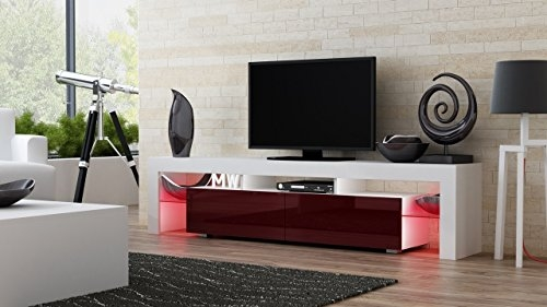 Wonderful Wellknown Acrylic TV Stands Pertaining To Amazon Tv Stand Milano 200 Modern Led Tv Cabinet Living (Image 49 of 50)