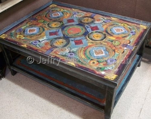 Wonderful Wellknown Art Coffee Tables In Contemporary Painting Coffee Table Large Original Art From (Image 49 of 50)