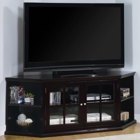 Wonderful Well Known Black Corner TV Cabinets With Glass Doors With Regard To Tv Cabinets With Glass Doors (Image 49 of 50)