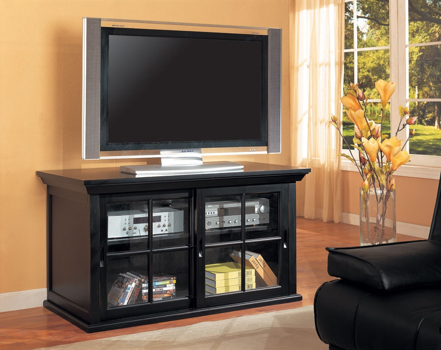 Wonderful Wellknown Black TV Stands With Glass Doors In Santa Clara Furniture Store San Jose Furniture Store Sunnyvale (Image 50 of 50)