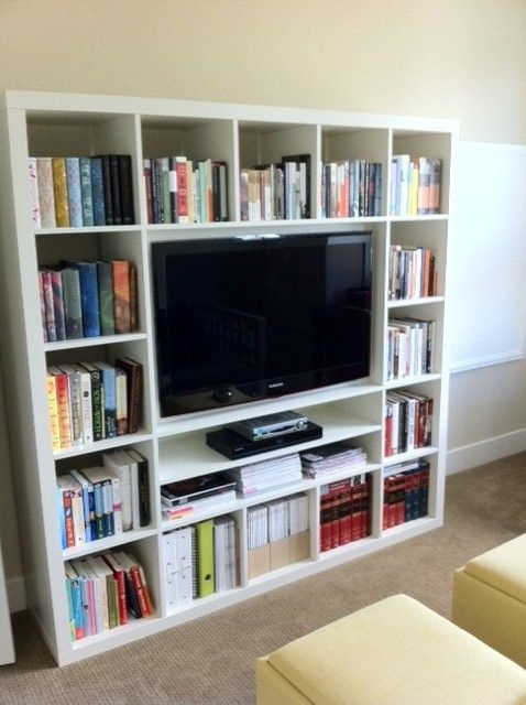 Wonderful Well Known Bookshelf TV Stands Combo For Best 25 Shelves Around Tv Ideas Only On Pinterest Media Wall (View 21 of 50)